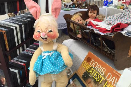 Antiques fairs on the Northshore - vintage rabbit doll