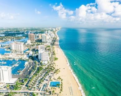 Aerial view of Fort Lauderdale Beach