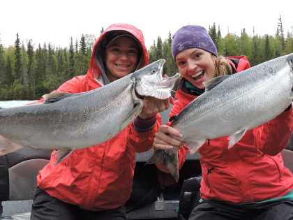 Salmon fishing hooks many visitors to Alaska.