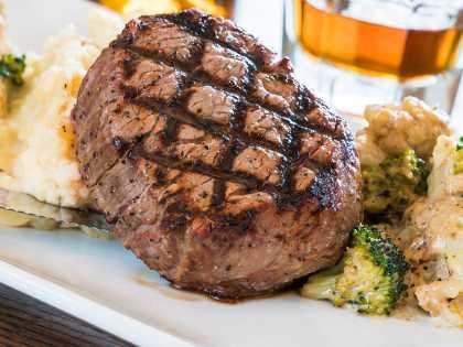 A steak dinner in Anchorage, Alaska