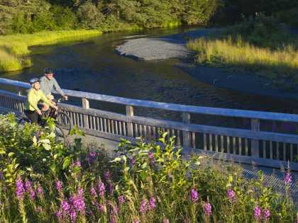 Biking Anchorage trails