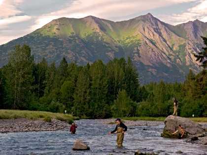 Fishing near Anchorage at bird creek