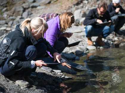 Crow Creek Mine gold panning