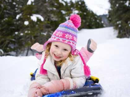 Anchorage winter activities: kids sledding