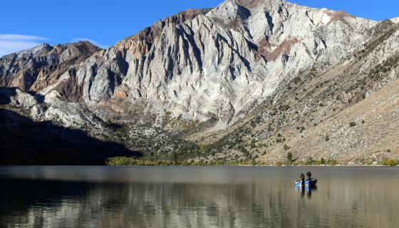 Convict Lake with boat