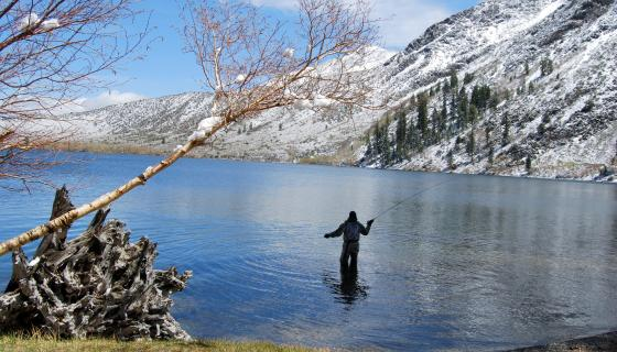 Fishing at Convict Lake