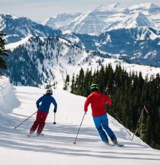 Skiing at Brighton Ski Resort