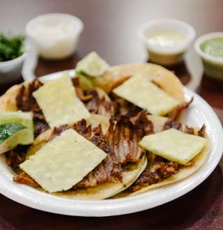 Food at Jugos y Tortas El Morelense