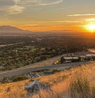 Sunset on Salt Lake Valley