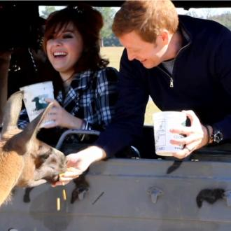 People feeding llama at Global Wildlife Center