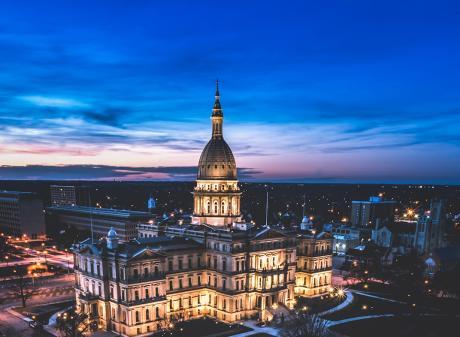 Downtown Lansing Capitol