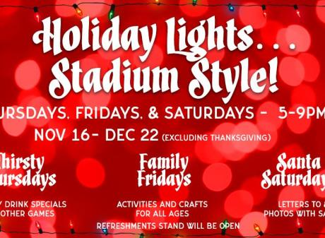 Holiday Lights Stadium Style