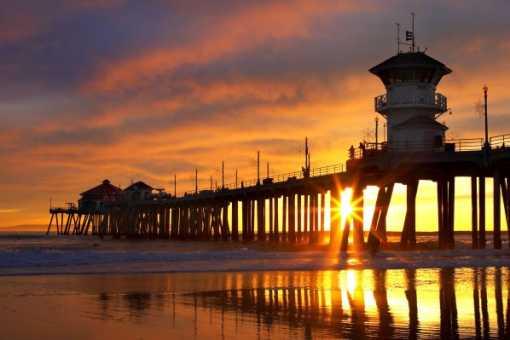 sunset beach in huntington beach huntington beach beaches