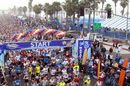 Surf City Marathon Start Line