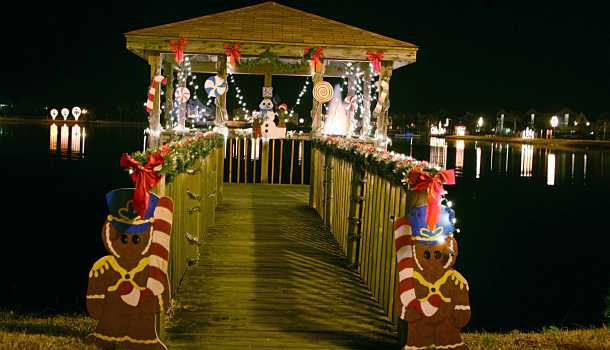 Island of Lights Christmas Dock