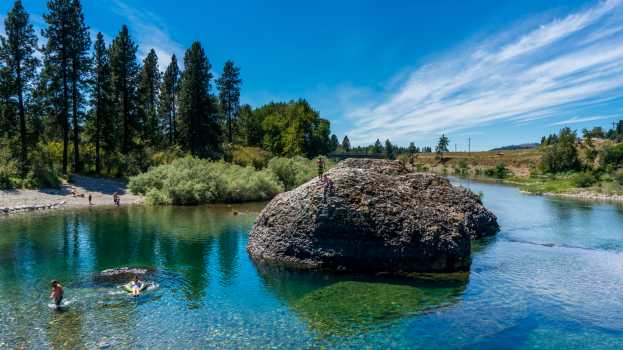 swimming beaches in spokane wa