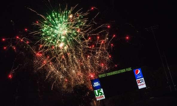 Fireworks at Spirit Communications Park