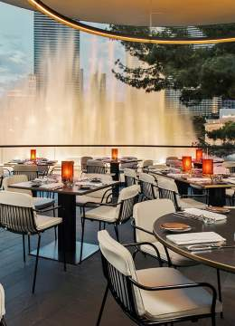 View of the inside of Spago restaurant in Las Vegas