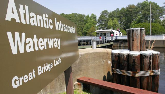 Great Bridge Lock Sign