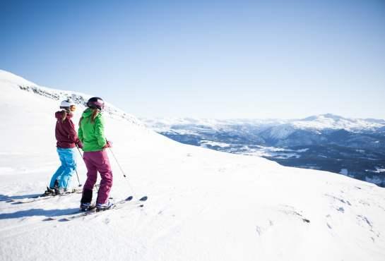 Pa Ski I Fjord Norge Skilob Med Udsigt