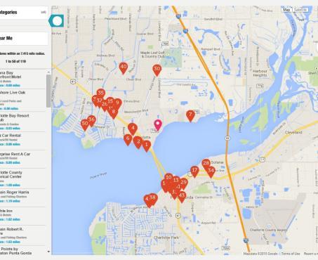 Street Map Port Charlotte Florida.Charlotte Harbor Visitor Information Area Maps Tours