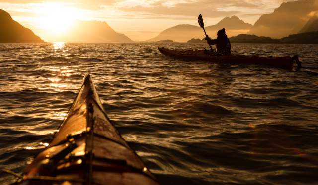 Kayaking into the midnight sun | Things to do in Northern Norway