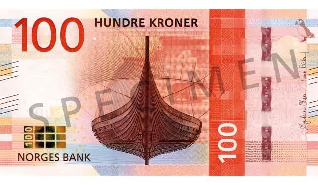 100 kroner (forside / obverse side)