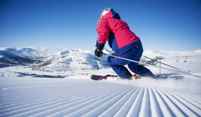 Alpine skiing in Hovden alpine center