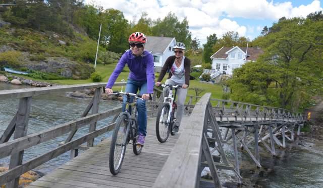 Cycling at Marivold, Grimstad