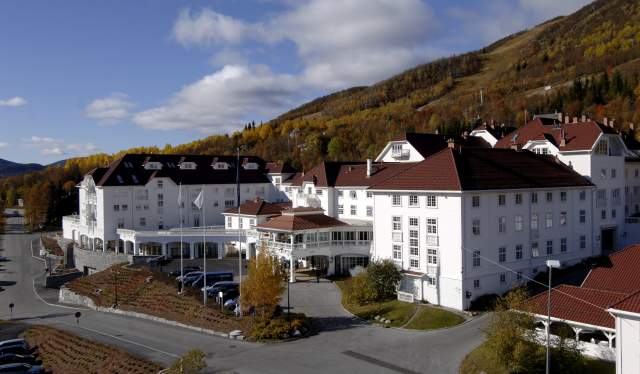 The traditional Dr. Holms Hotel in Geilo