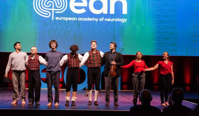 People on the stage at the EAN congress in Oslo, Norway