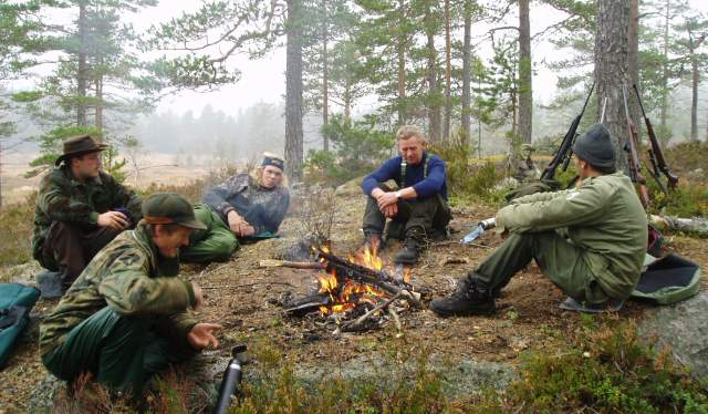 Hunting team in Gjerstad