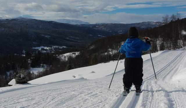 Skitur på Øvre Ålsåsen, Ål i Hallingdal