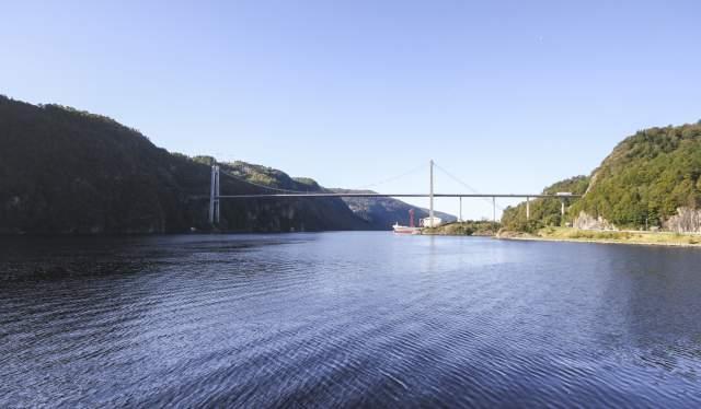Feda fjord bridge southern Norway