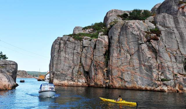 Olavsundet sound in Ny-Hellesund
