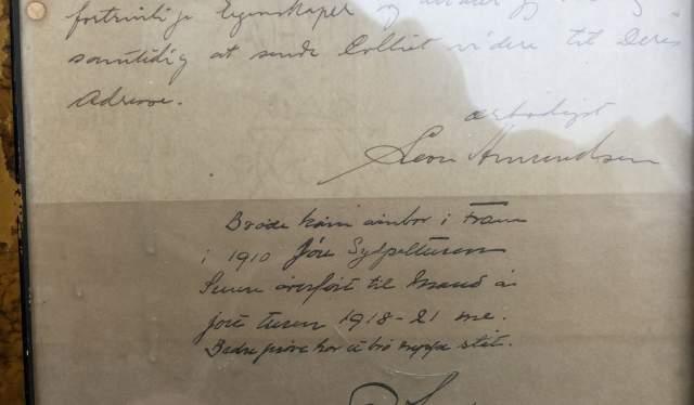Letter from Roald Amundsen