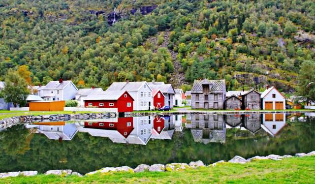 Lærdal by the Sognefjord