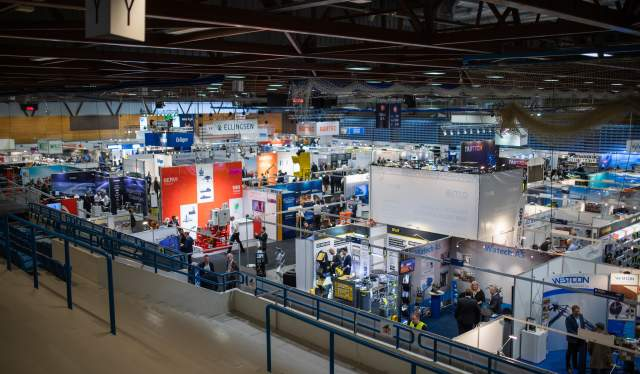 Overview of the exhibition area at Offshore Technology Days 2019 in Stavanger, Norway