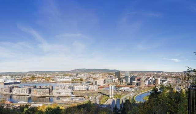 Oslo panorama from the Ekeberg Restaurant