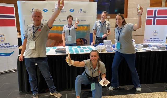 Helpers during The Norwegian Swimming Association's coaching and leadership conference in Oslo, Norway