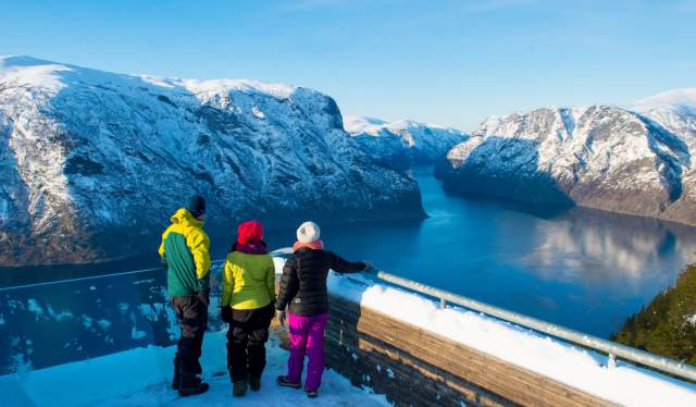 Sognefjord in winter