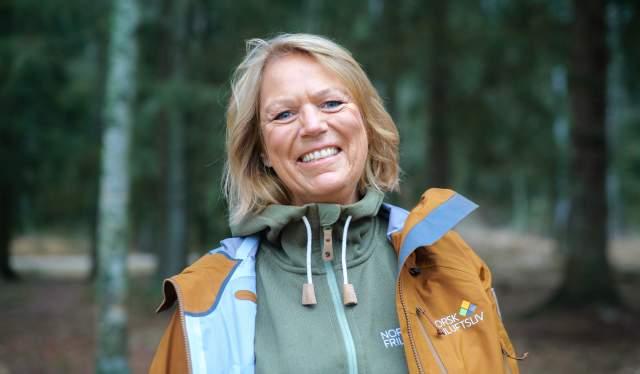 Portrait of Bente Lier, secretary-general ofNorsk Friluftsliv