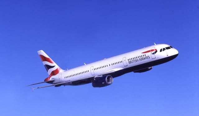 British Airways aircraft takes off