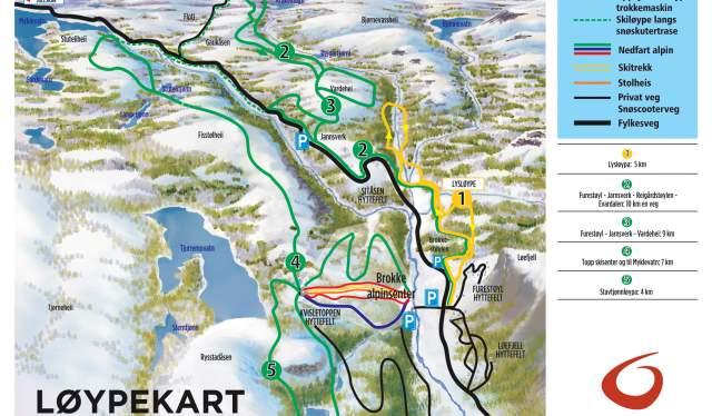 Brokke trail map