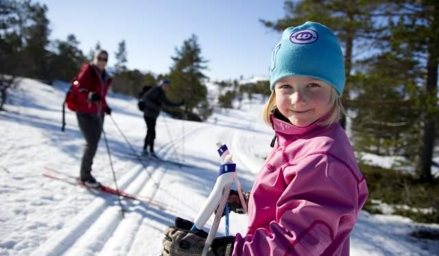 Cross country skiing in Brokke