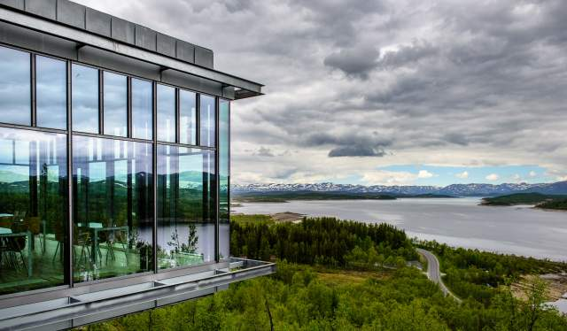 Utsikt fra Hardangervidda Nasjonalparksenter