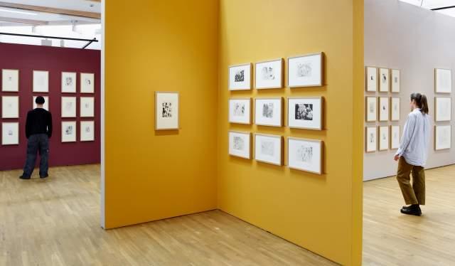 Kunst fra utstillingen Picasso 347 på Henie Onstad Kunstsenter.