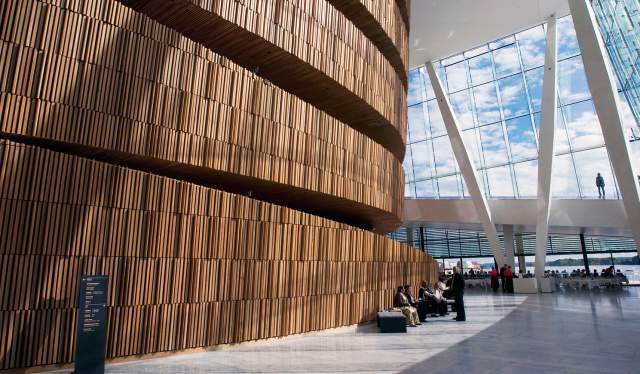 Interiour of The Norwegian Opera and Ballet, Oslo, Norway