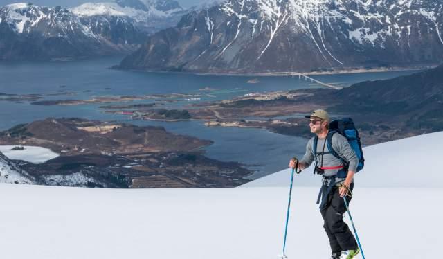 Ski touring in Lofoten