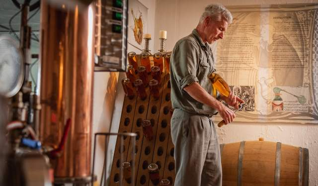 Åge Eitungjerdet in his cidery, Balholm, Fjord Norway